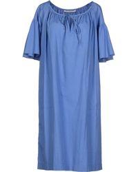 Yves Saint Laurent Rive Gauche Knee-Length Dress blue - Lyst