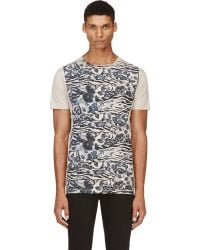 Marc Jacobs Tan Floral Print Bst Edition T_shirt - Lyst