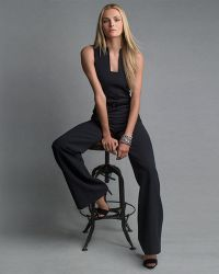 Ralph Lauren Black Label - Isabella Sleeveless Self-Belt Jumpsuit - Lyst
