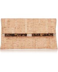 Diane von Furstenberg 440 Envelope Metallic Cork Clutch - Lyst