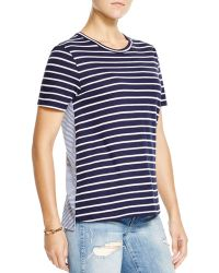 Clu Too - Colour Blocked Striped Tee - Lyst