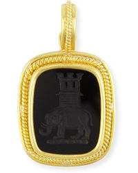 Elizabeth Locke 19k Elephant and Castle Onyx Pendant rgtI2W5H