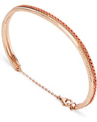 Joelle Jewellery - 18K Pink Gold Narrow Lace Bangle - Lyst