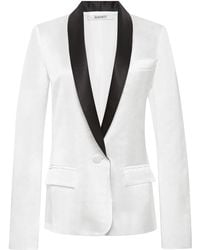 Rodarte Silk and Linen Blend Tuxedo Jacket - Lyst