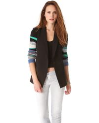 Tess Giberson - Blazer with Knit Sleeve - Lyst