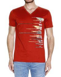 Iceberg T-Shirt red - Lyst
