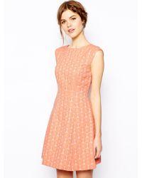 Oasis Daisy Jacquard Dress - Lyst