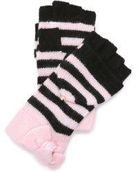 Kate Spade - Modern Heritage Stripe Pop Top Mittens - Pastry Pink - Lyst