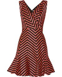 Matthew Williamson Fluted Jacquard Dress - Lyst