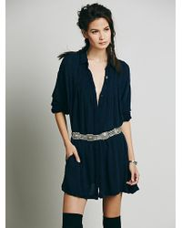 Free People Washed Drippy Mini - Lyst
