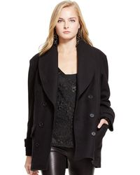 Polo Ralph Lauren Wool Double-Breasted Coat - Lyst