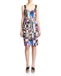 Milly Cube Print Dress - Lyst