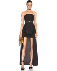Sass & Bide See Then Saw Strapless Dress With Pleats - Lyst