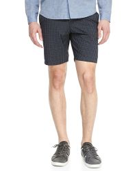 Theory Multicolor Printed-twill Shorts - Lyst