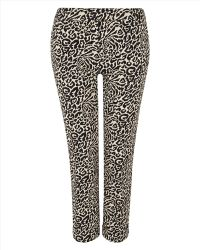 Jaeger Animal Print Cropped Trousers - Lyst