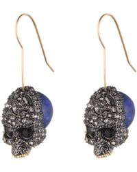 Alexis Bittar Skull Drop Infinity Wire Earring gold - Lyst