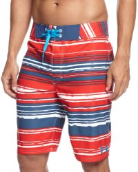 Under Armour Americana Striped Performance Board Shorts - Lyst