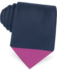Paul Smith Color Block Silk Narrow Tie - Lyst