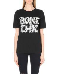 Moschino Cheap & Chic Bone Chic Cotton-jersey T-shirt - Lyst