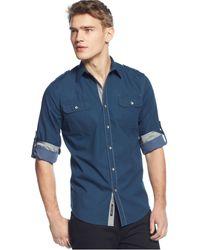 DKNY Contrast Shirt - Lyst