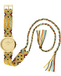 Toy Watch - Maya Yellow Golden Watch With Crochet Band - Lyst