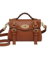 Mulberry Mini Alexa Polished Leather Satchel - Lyst