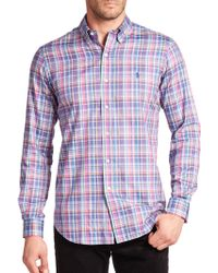 Polo Ralph Lauren Plaid Cotton Sportshirt multicolor - Lyst