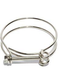 Ribeyron - Unisex Screw Bracelet In Rhodium - Lyst