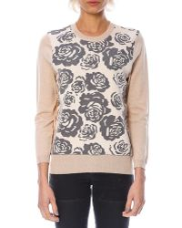 YAL New York - 3/4 Sleeve Floral Print Sweater - Lyst