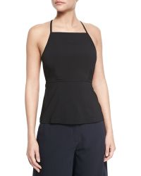 Theory Amalay Open-Back Georgette Top - Lyst