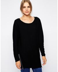 Selected Ila Sweater with Zip Detail - Lyst