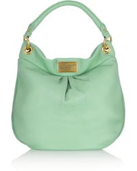 Marc By Marc Jacobs The Classic Q Hiller Hobo Texturedleather Shoulder Bag - Lyst