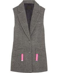 Alexander Wang Oversized Woolblend Vest - Lyst