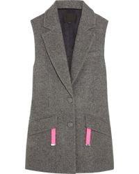 Alexander Wang Oversized Wool-Blend Vest - Lyst