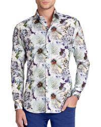 Etro Floral Print Sportshirt - Lyst