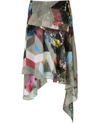 Preen Silk Blush Skirt - Lyst