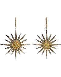 Bochic - Yellow Sapphire Starburst Earrings - Lyst