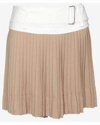 A.L.C. Contrast Belted Pleated Mini Skirt - Lyst