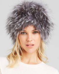Surell Fox Fur Knit Bubble Hat - Lyst