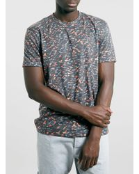 Topman Multi Coloured Camouflage Print Tshirt - Lyst