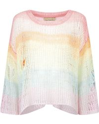 Wildfox Rainbow Open Knit Jumper - Lyst