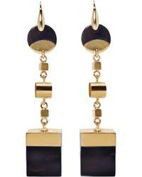 Isabel Marant - Brass And Buffalo Horn Wedge Earrings - Lyst