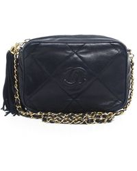 Chanel Pre-owned Lambskin Tassel Vintage Camera Bag - Lyst