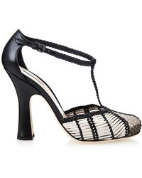 Bottega Veneta Prusse Stuoia Leather Sandals - Lyst