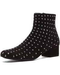 Saint Laurent Babies Swarovski Studded Low Boot - Lyst