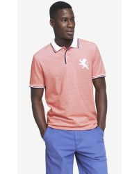 Express Modern Fit Tipped Collar Pique Polo - Moroccan Blue - Lyst