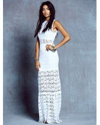 Free People Dixie Lace Cutout Maxi - Lyst