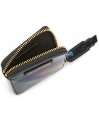 Lulu Guinness Oil Slick Patent Leather Square Coin Purse - Lyst