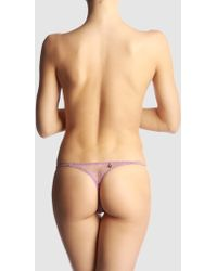 Argento Vivo G-String purple - Lyst