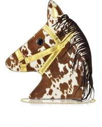 Charlotte Olympia Daddy I Want A Pony! Appaloosa Horse Head Shaped Clutch - Lyst
